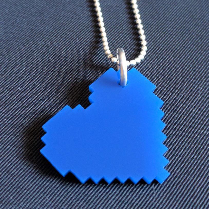 blue-pixel-heart-neckalce