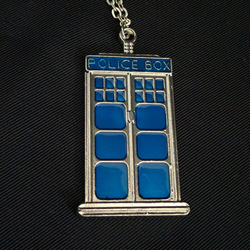 Police Box Necklace Large 1